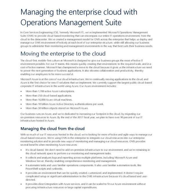 Managing the enterprise cloud with Operations Management Suite