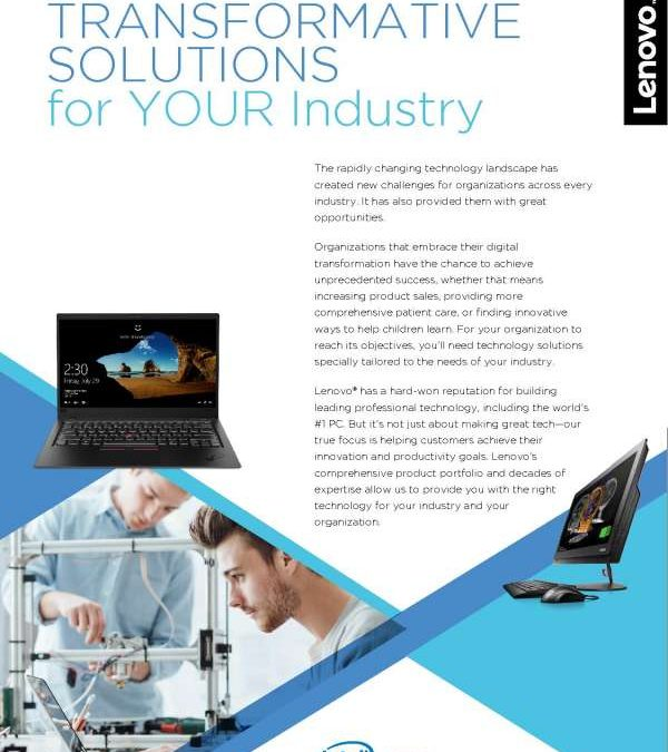 Lenovo Transformative Solutions for Your Industry