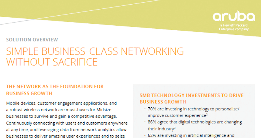Simple Business-Class Networking Without Sacrifice
