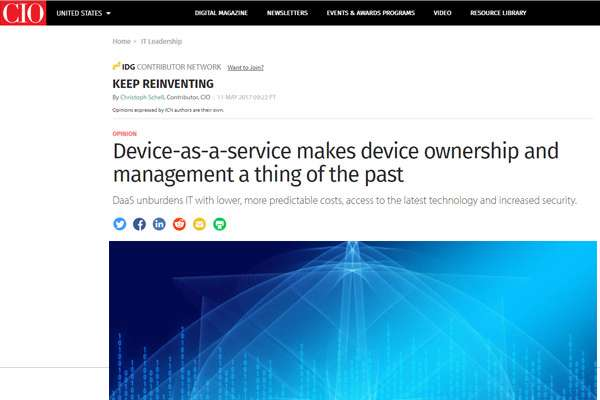 Device-as-a-service makes device ownership and management a thing of the past
